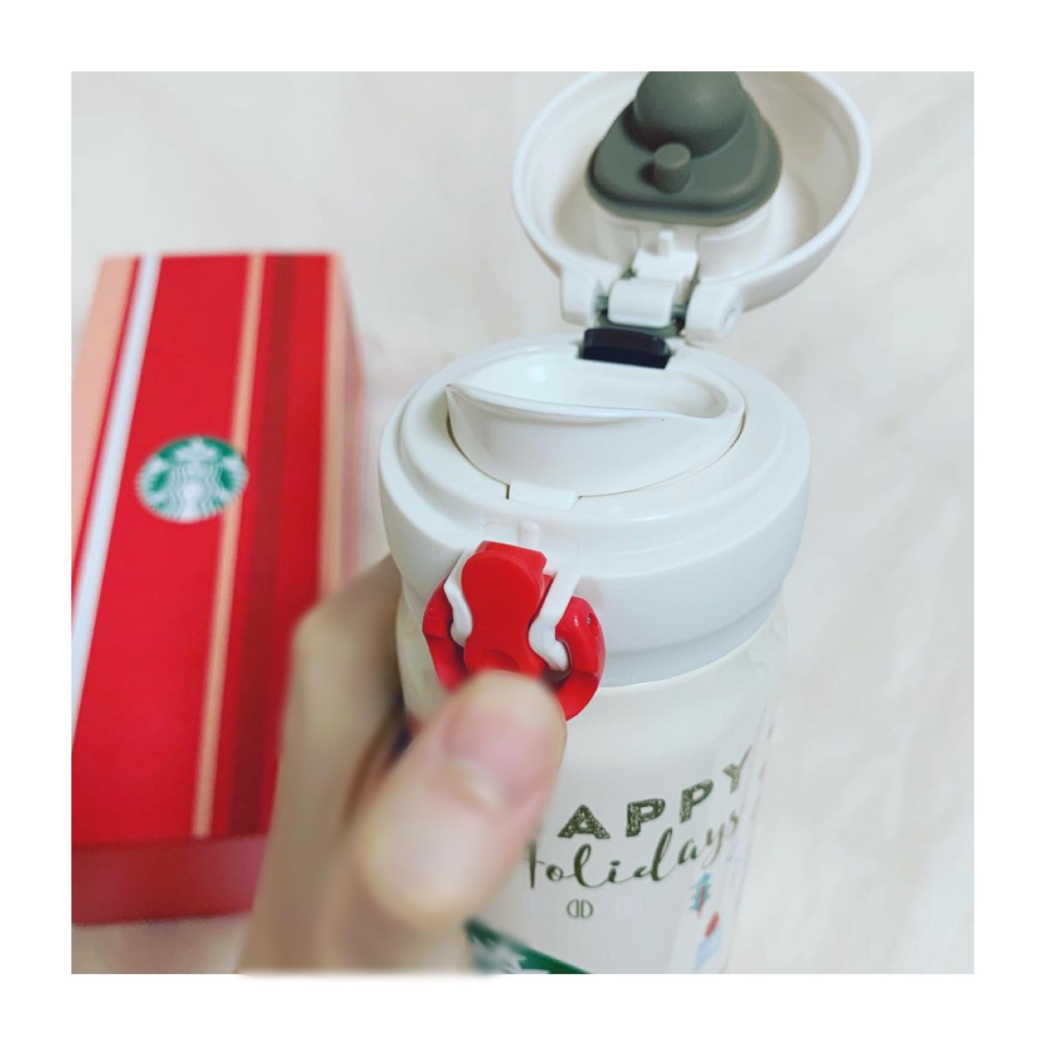 《保温•保冷機能が抜群❤️》【スタバ】クリスマスモチーフのステンレスボトルが可愛くて優秀☻!_3