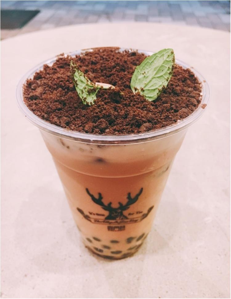 【台湾スイーツ】えっ!これって飲み物?!台湾発♡THE ALLEY LUJIAOXIANGの『盆栽タピオカミルクティー』♡♡_2