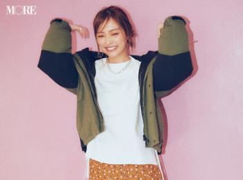 【今日のコーデ】<内田理央>遊園地デートの日は花柄スカートを思いっきりカジュアルダウンしてハッピーに♪