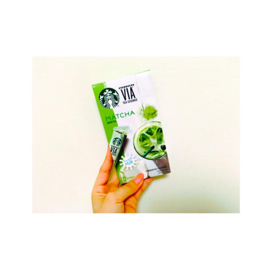 ◎もう試した?♡スタバのヴィアティーエッセンス抹茶☻お家で簡単カフェタイム♡♡♡_1