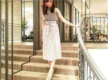 【ZARA】SALEで¥1990のチェック柄ラップスカート♡はハイウエストデザインがお気に入り!