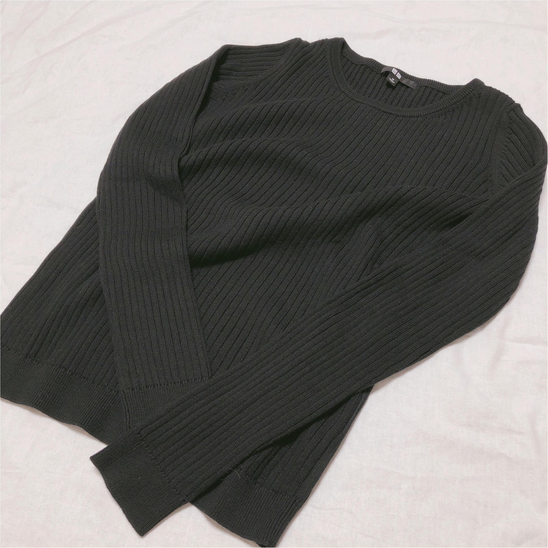 【UNIQLO】着回し力抜群♡優秀コットンカシミヤリブセーター_1