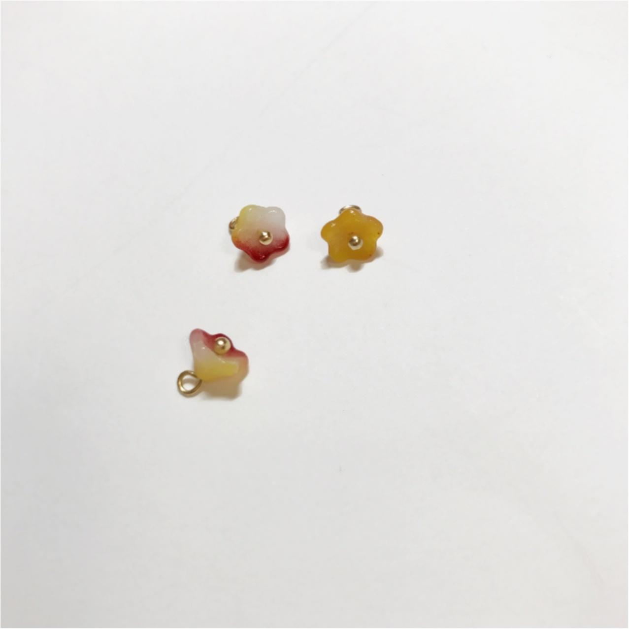 """【ハンドメイド】""""チェコビーズ ベルフラワー""""で作るお花の春アクセサリー♡_3"""