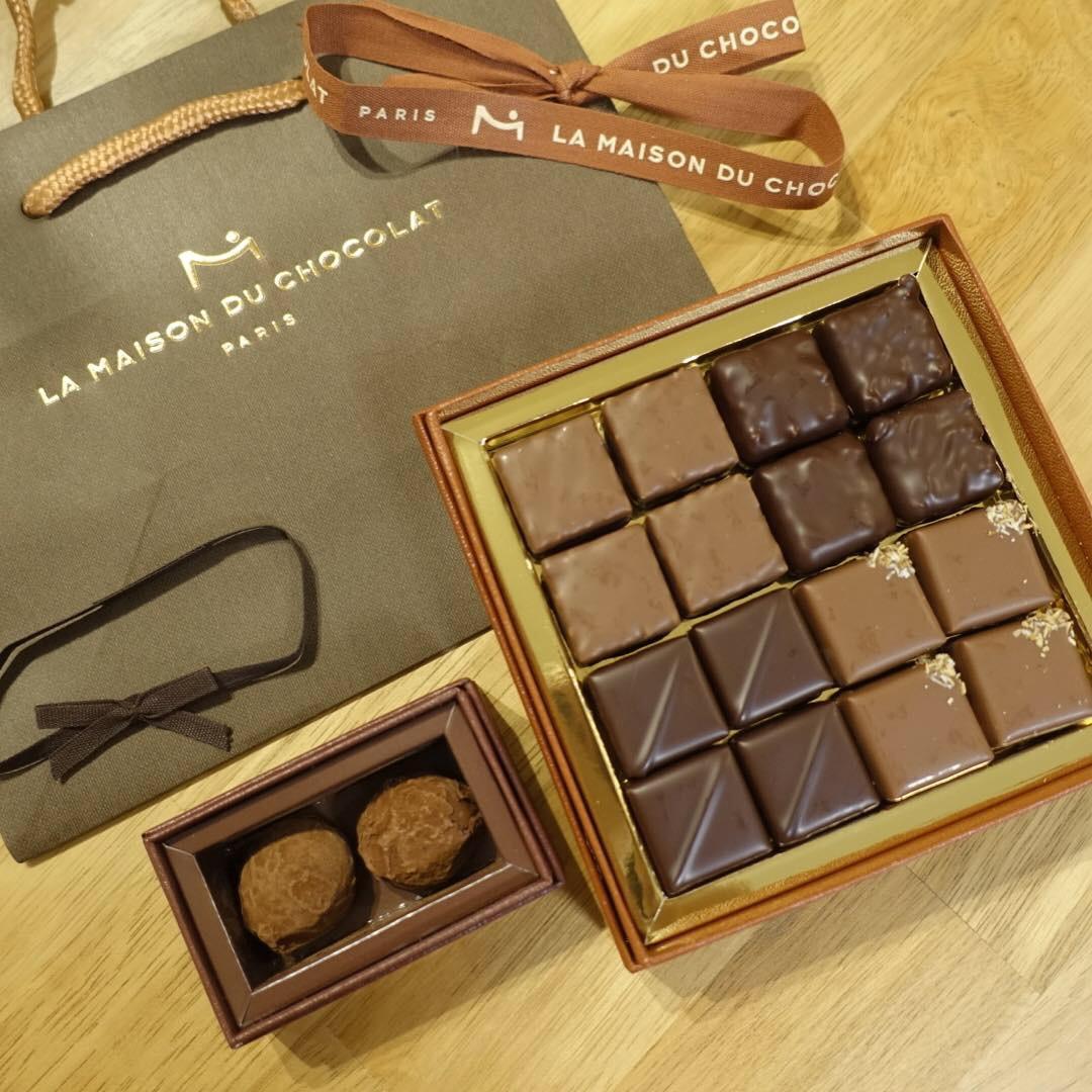 《Valentine2019》本命チョコは〈LA MAISON DU CHOCOLAT 〉ちゃっかり自分も食べたくて、、、♡_2