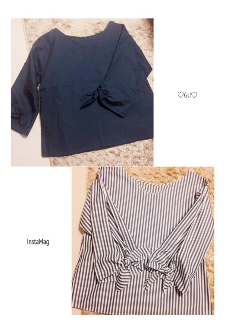 ♡イロチ買いしちゃいました!【GU】のリボン袖ブラウスが可愛すぎる♡_1