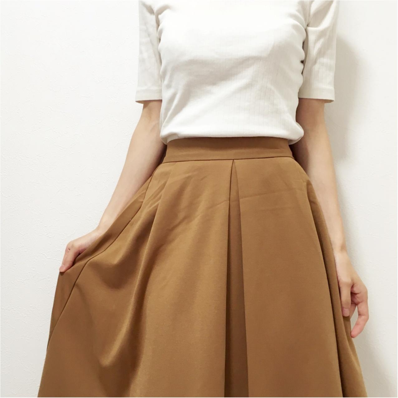 秋はブラウンが主役 ♡ GUスカートでプチプラ秋コーデ♪_4