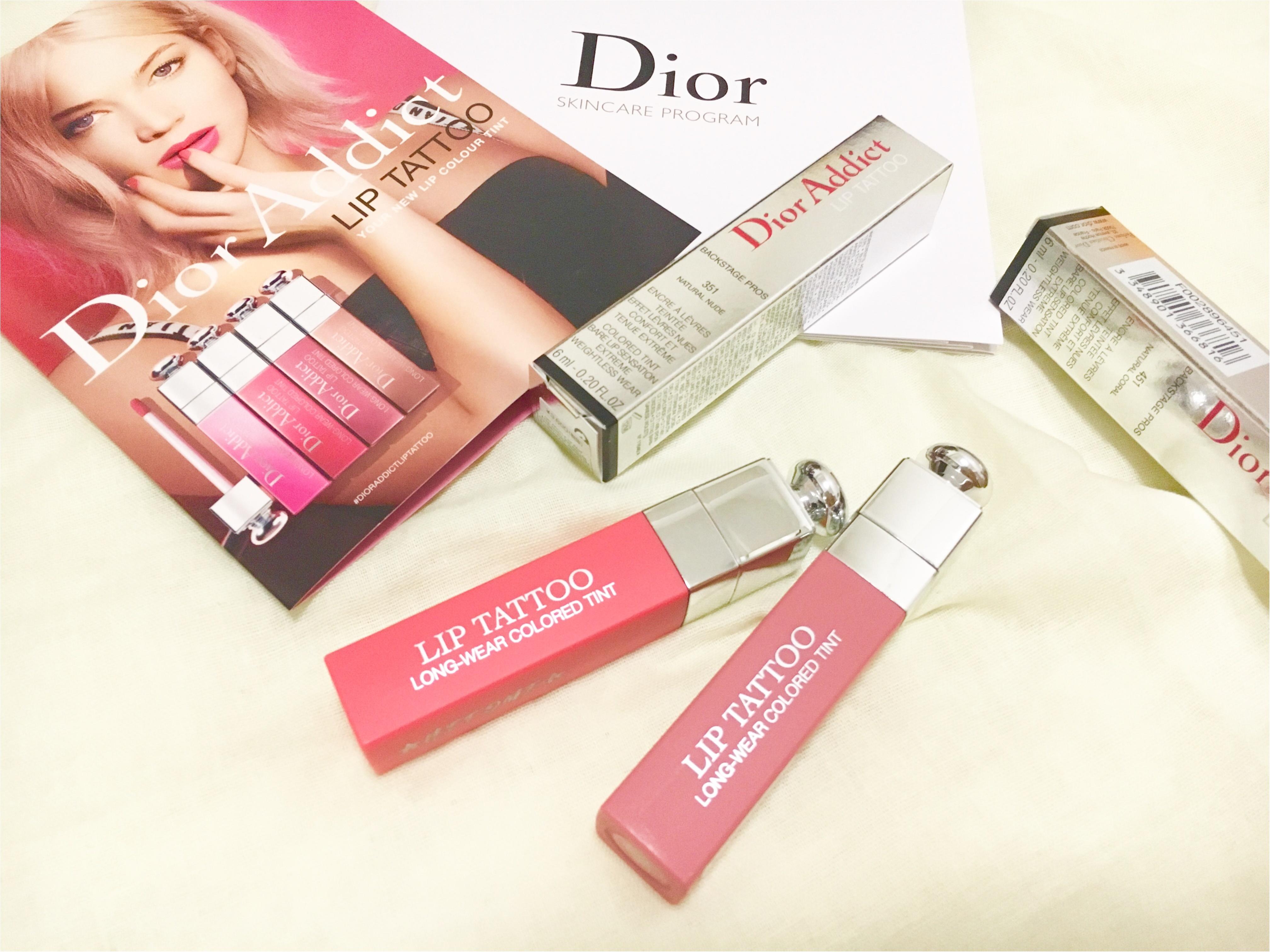 話題のリップが先行発売中❤️10時間耐久⁈【Dior ADDICT】リップタトゥーが超優秀!!_10