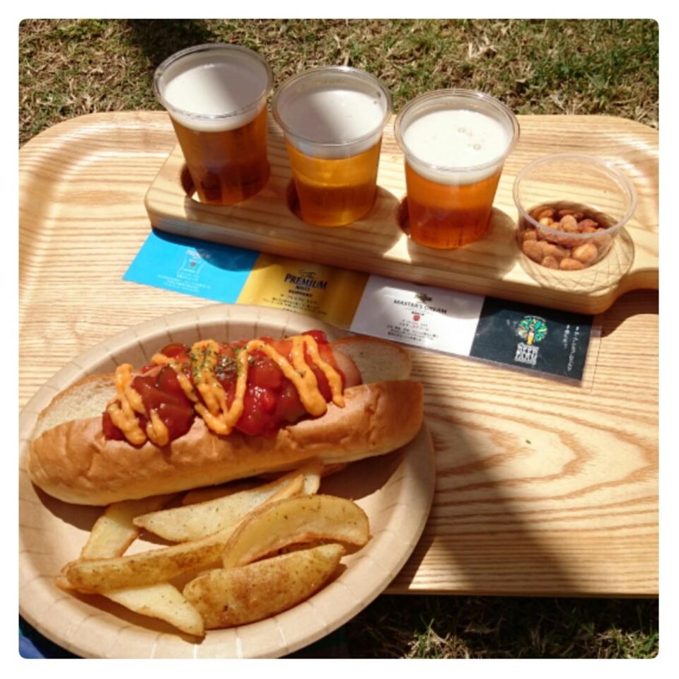芝生の上でビール♡二子玉川で至福の時間を☺︎︎_6