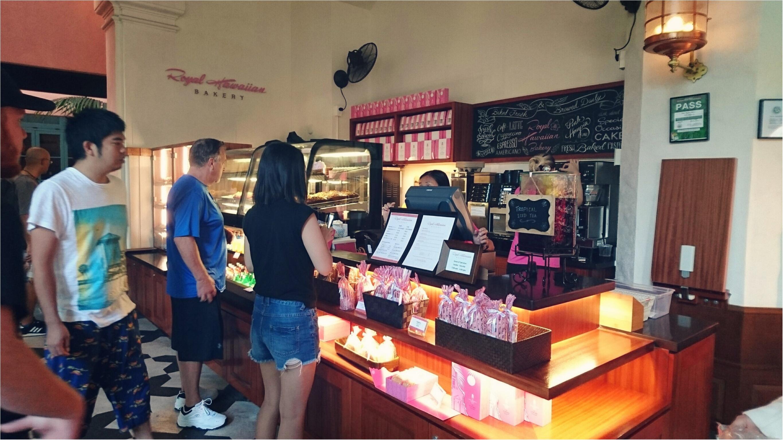 《憧れホテル!》ピンクパレスことロイヤルハワイアンのベーカリーでテイクアウト♡テラスで朝食を*°_3