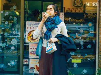 「あの人に会えない悲しみは、食べて忘れる!」佐藤栞里主演【冬から春へ。手持ち服9着から始める着回し】6日目