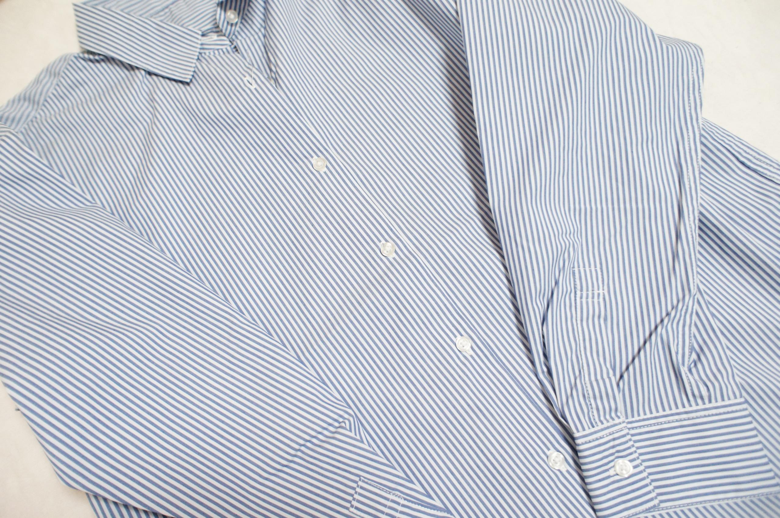 《今買って春まで使える❤️》【GU】の初売りセールで買った2WAYストライプオーバーサイズシャツが優秀☻_2