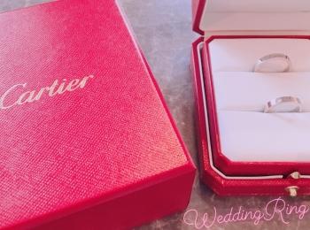 【結婚指輪】デザインが素敵なカルティエにしました❤︎