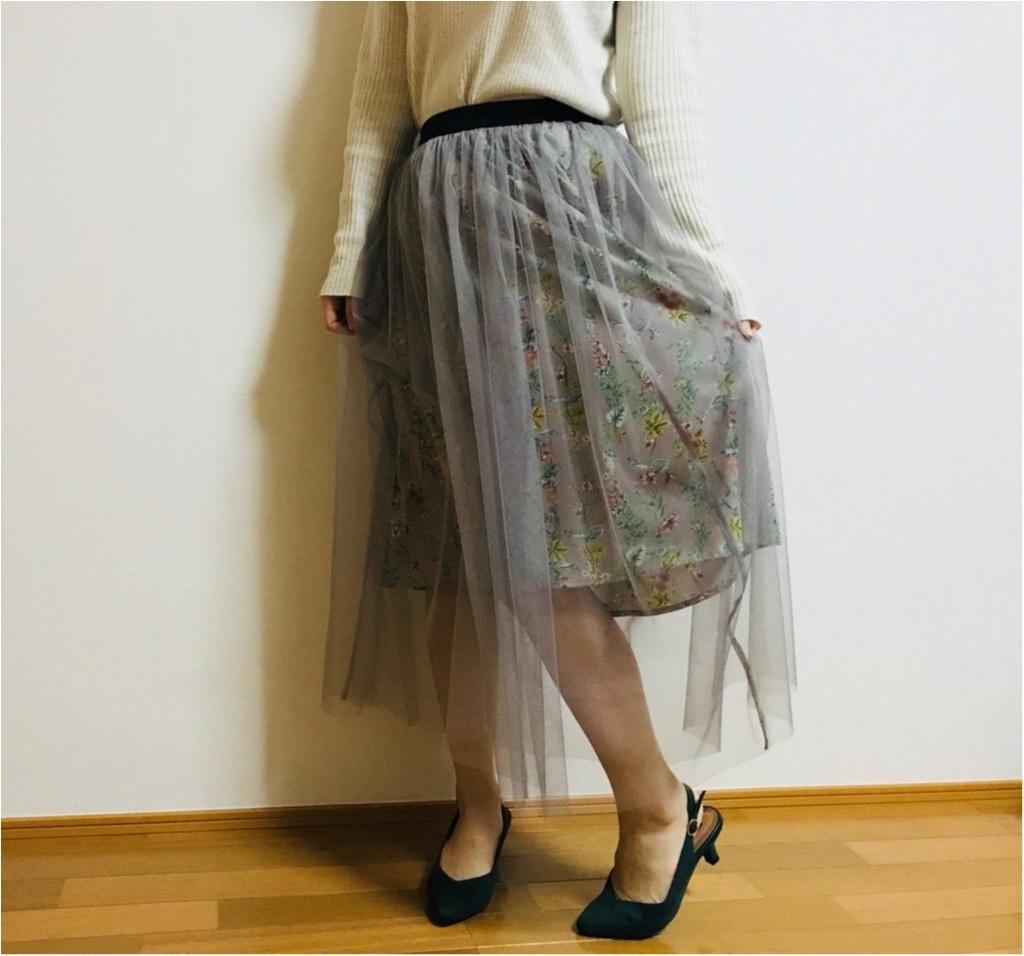 """春コーデに""""透け感""""は必須!【N.Natural Beauty Basic】の《チュールスカート》で春コーデを組んでみました♡♡_4"""