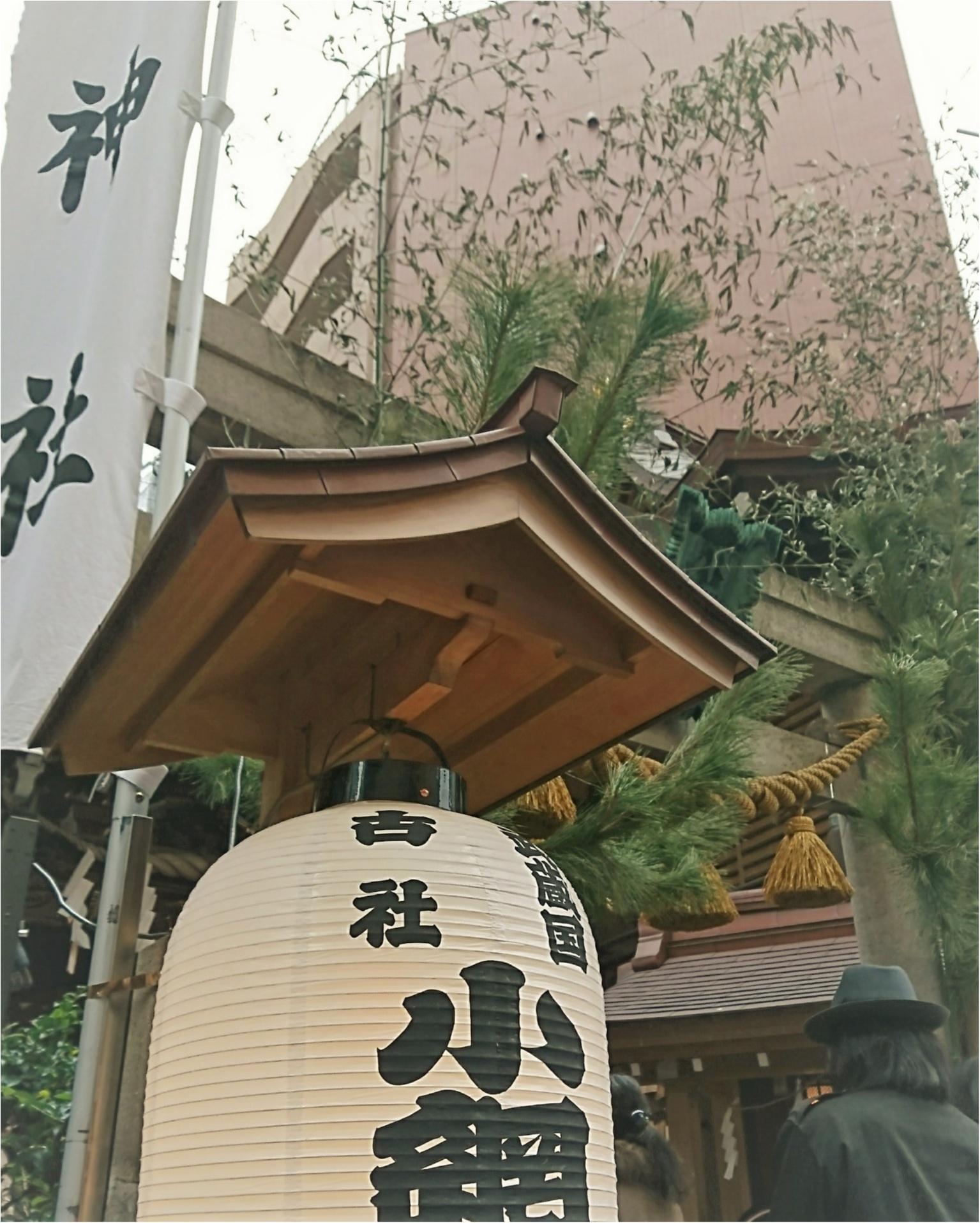 【御朱印ガールの年初め】小網神社で開運デート♡_2