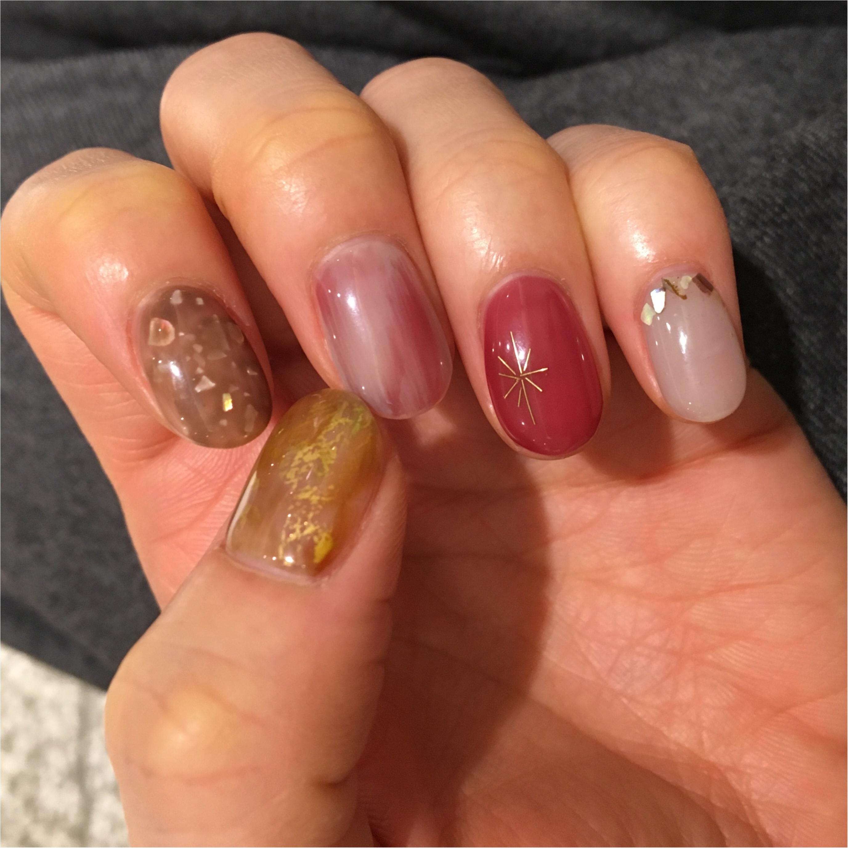 My Nail...今季最後の冬ネイル。欲張りに5色使っても統一感がでるコツ☺︎_2
