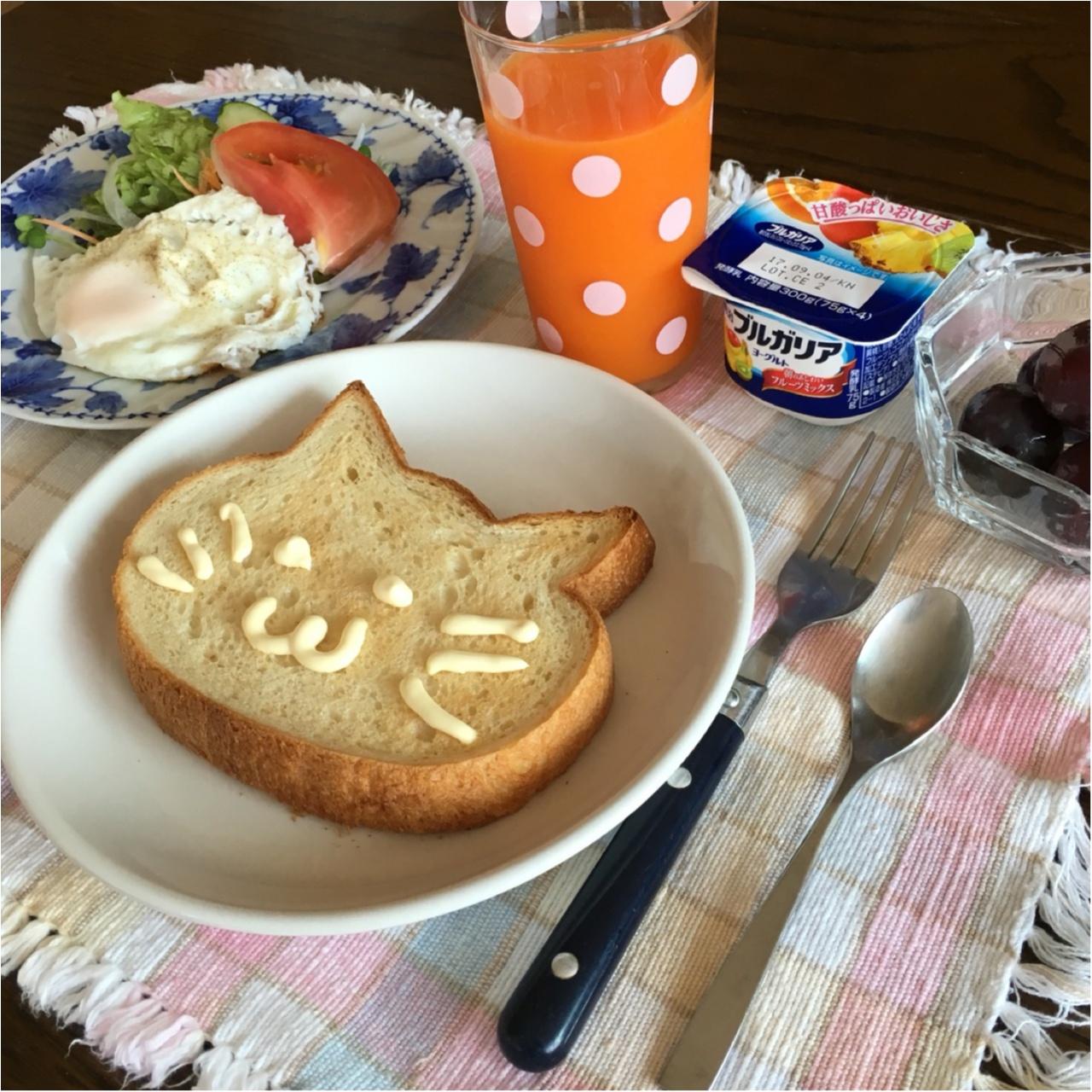 """ねこ型食パンでオシャレでかわいい""""おうちブランチ""""を楽しもう!♡_3"""