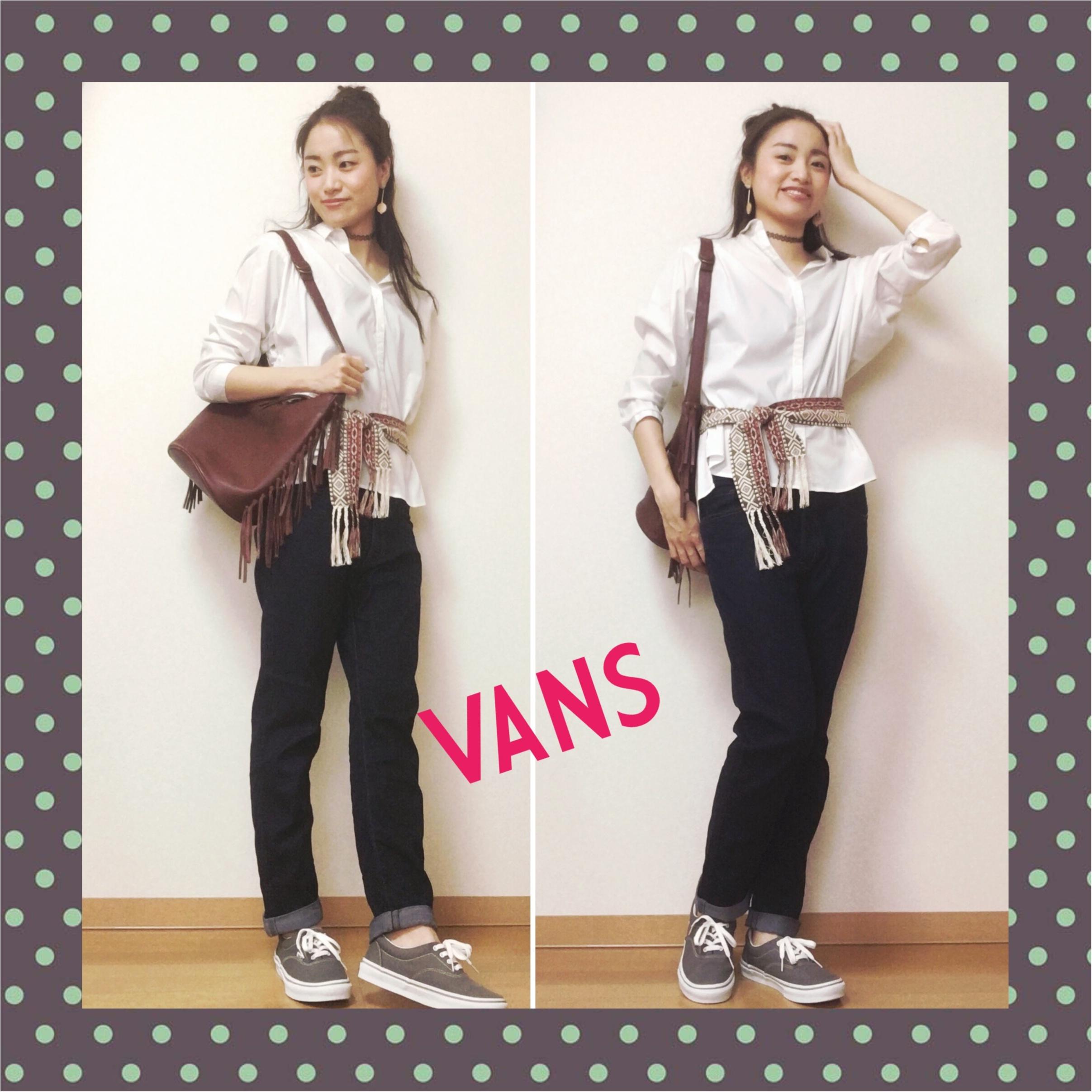 【最近よく見かけるあのシューズ‼︎】VANSのスニーカー買っちゃいました♡_2