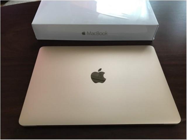 念願の【MacBook】!!スタイリッシュなデザインに惚れぼれです❤︎_3