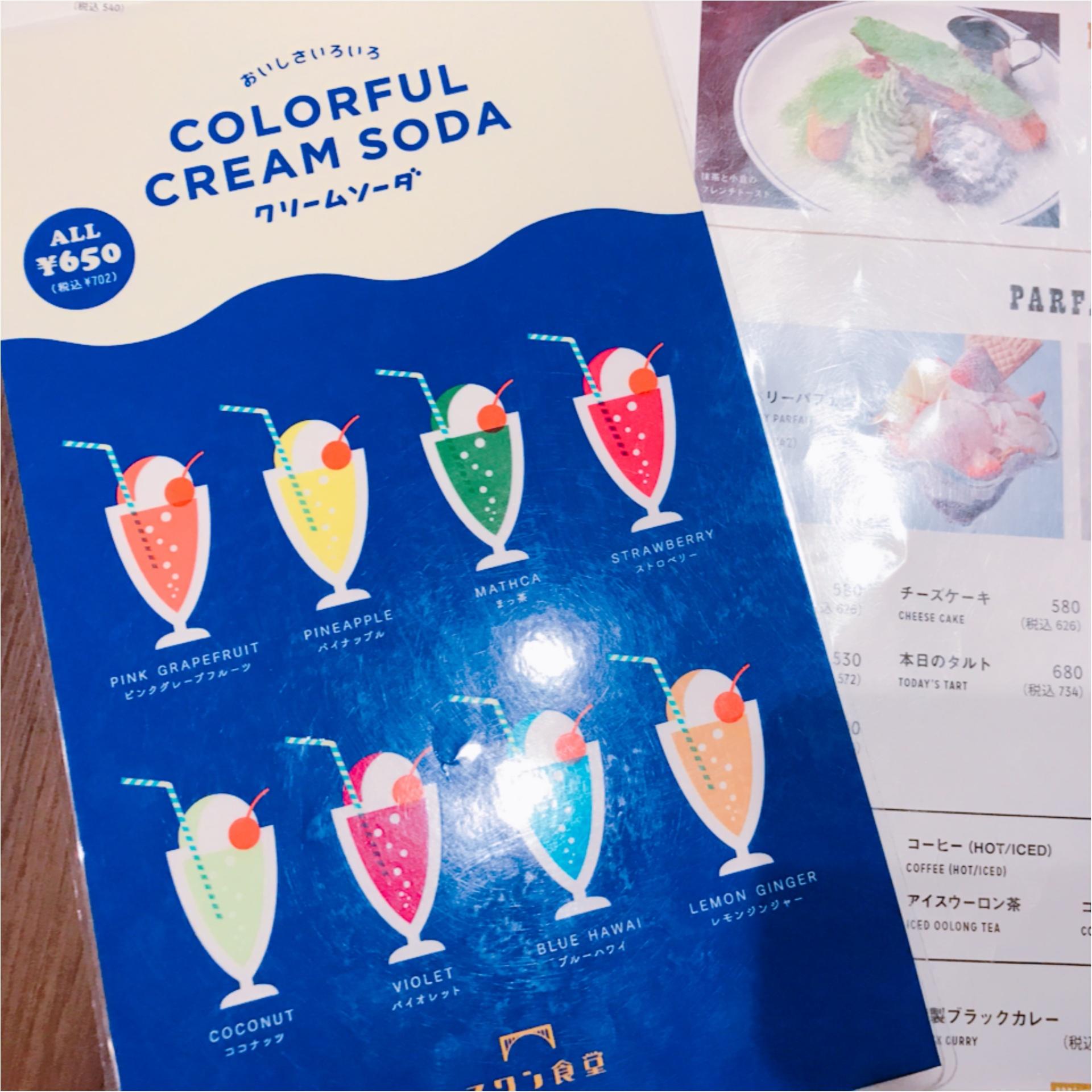 ★寒くなってもやっぱり飲みたい!ソーダとアイスの素敵な組み合わせ、『クリームソーダ』★_1