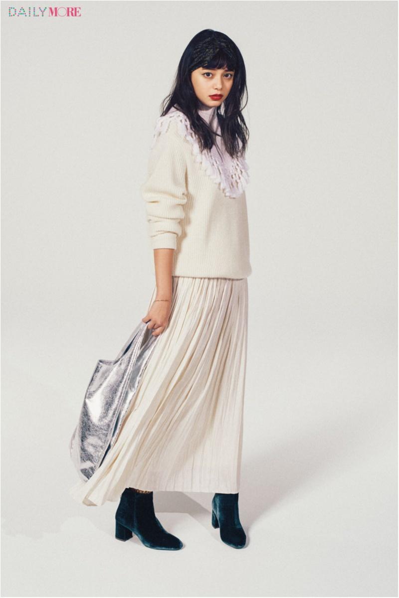 【今日のコーデ】真っ白なロングプリーツスカートを身にまとって、大人っぽさと女らしさのイイトコ取り♡_1