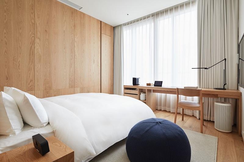 『MUJI HOTEL GINZA』の9タイプの客室、全部見せます♡ 家具からベッド、食器まで。無印良品の名品が使える試せる買える「無印良品 銀座」!_4_2