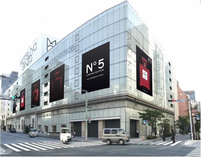 【話題沸騰中!!】「シャネル N°5」の真っ赤な限定ボトルが、渋谷や銀座の街をジャック♥_5