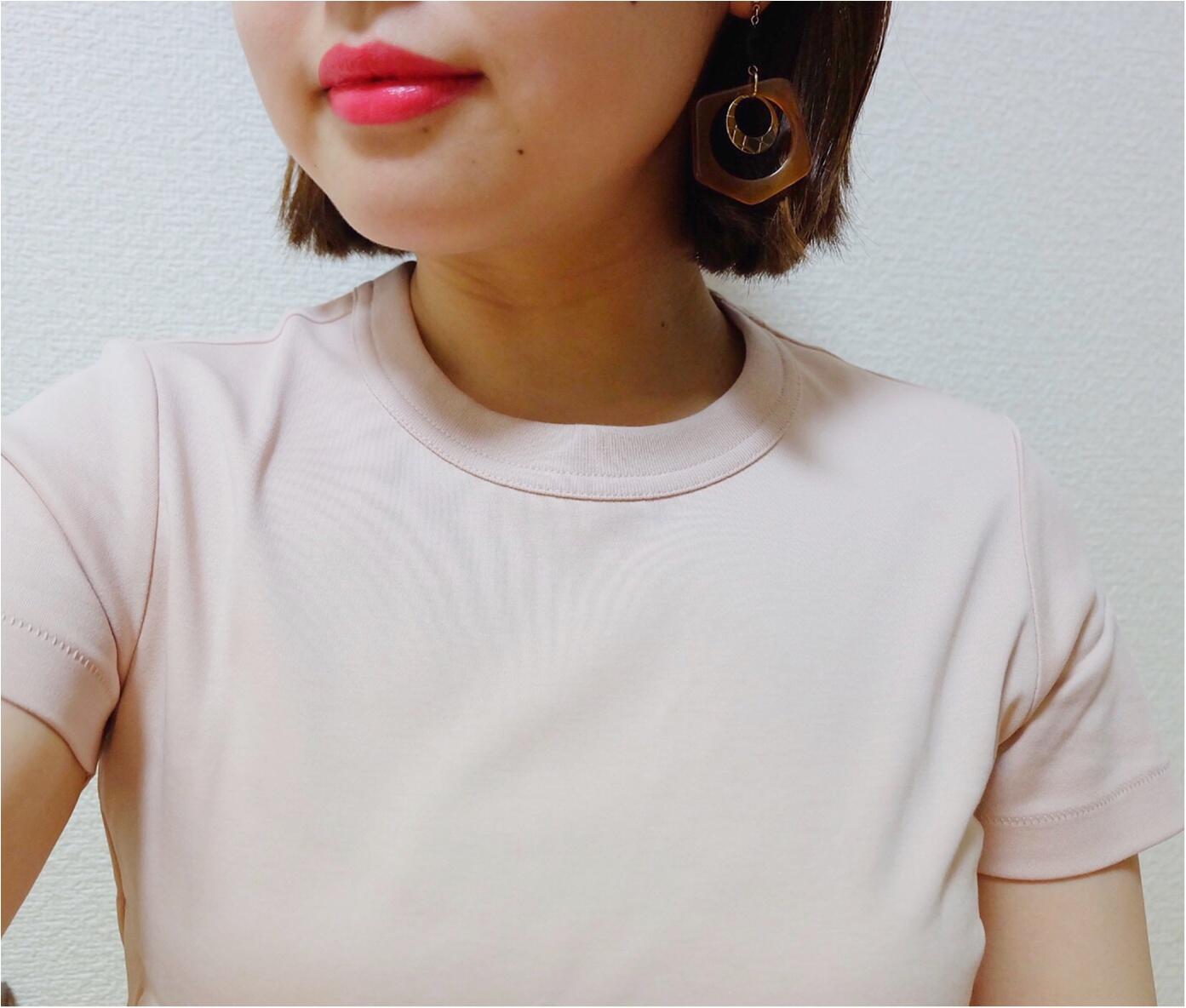 【Uniqlo U】ベーシックアイテムこそこだわりを!生地の透け感 厚み シルエットすべて検証!細見えまでしちゃう超優秀¥1000Tシャツだった♡コーデ画有✌︎_4
