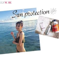 【モアモデルの夏の過ごし方】理央は今年、体の内側から日焼けケアを実行中です^^