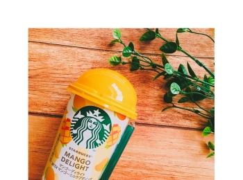 《本日7/10から期間発売★》コンビニで買える【スタバ】から新作登場!〝マンゴーディライト WITHマンゴーミルクプディング〟を飲んでみました❤️
