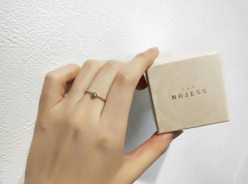 【NOJESS代官山店】ニューオープン記念した限定商品の一粒ダイヤリングを購入♡