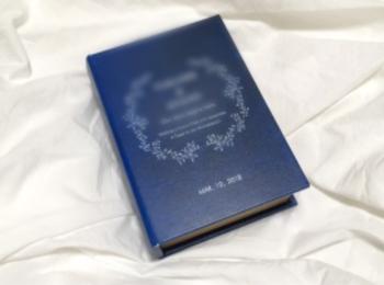 世界に1つ♡挙式後もインテリアになるオリジナル【ブック型リングピロー】