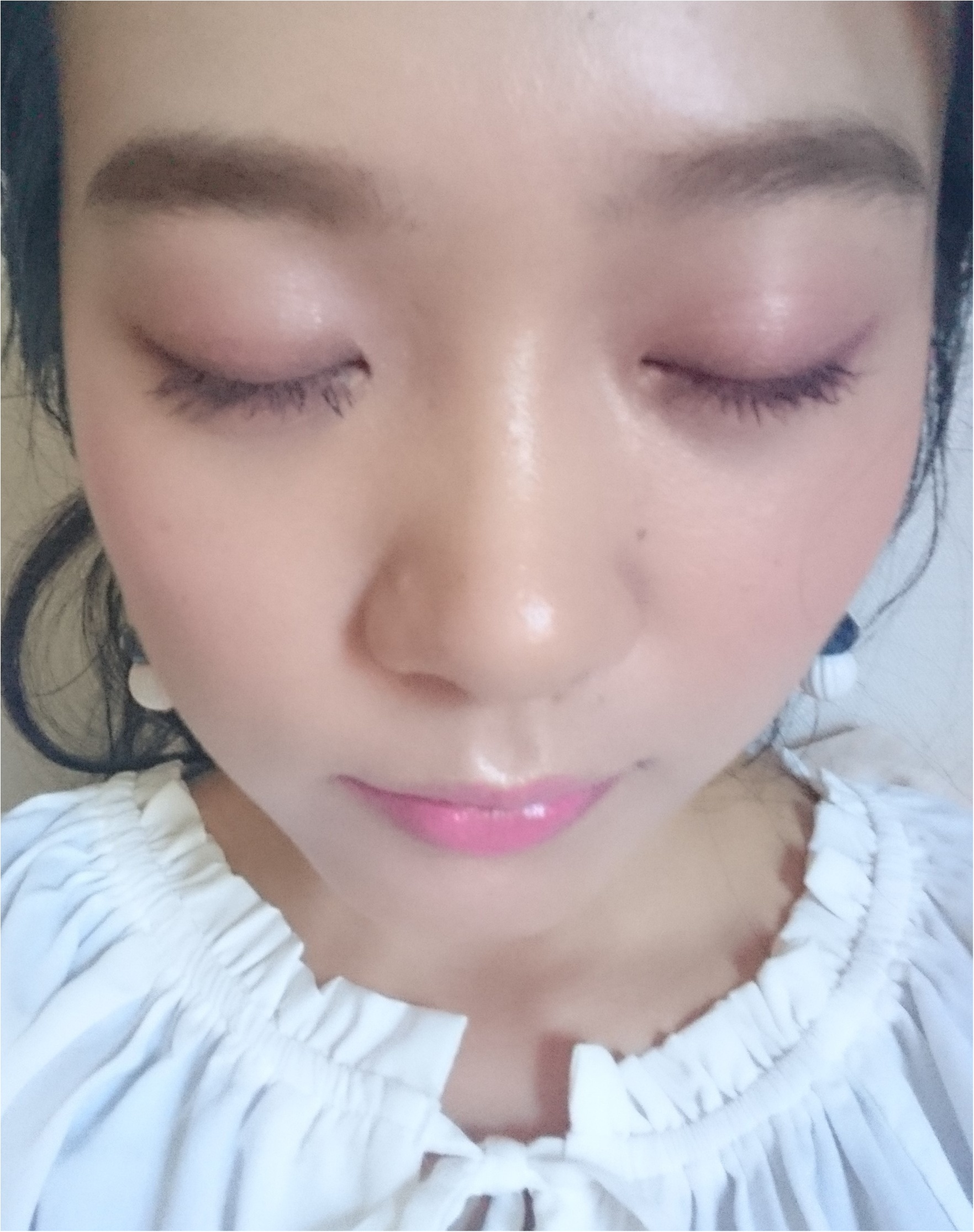 夏でも甘めピンクが可愛いんです♡ツヤ&輝きフェミニン【夏メイク】_2
