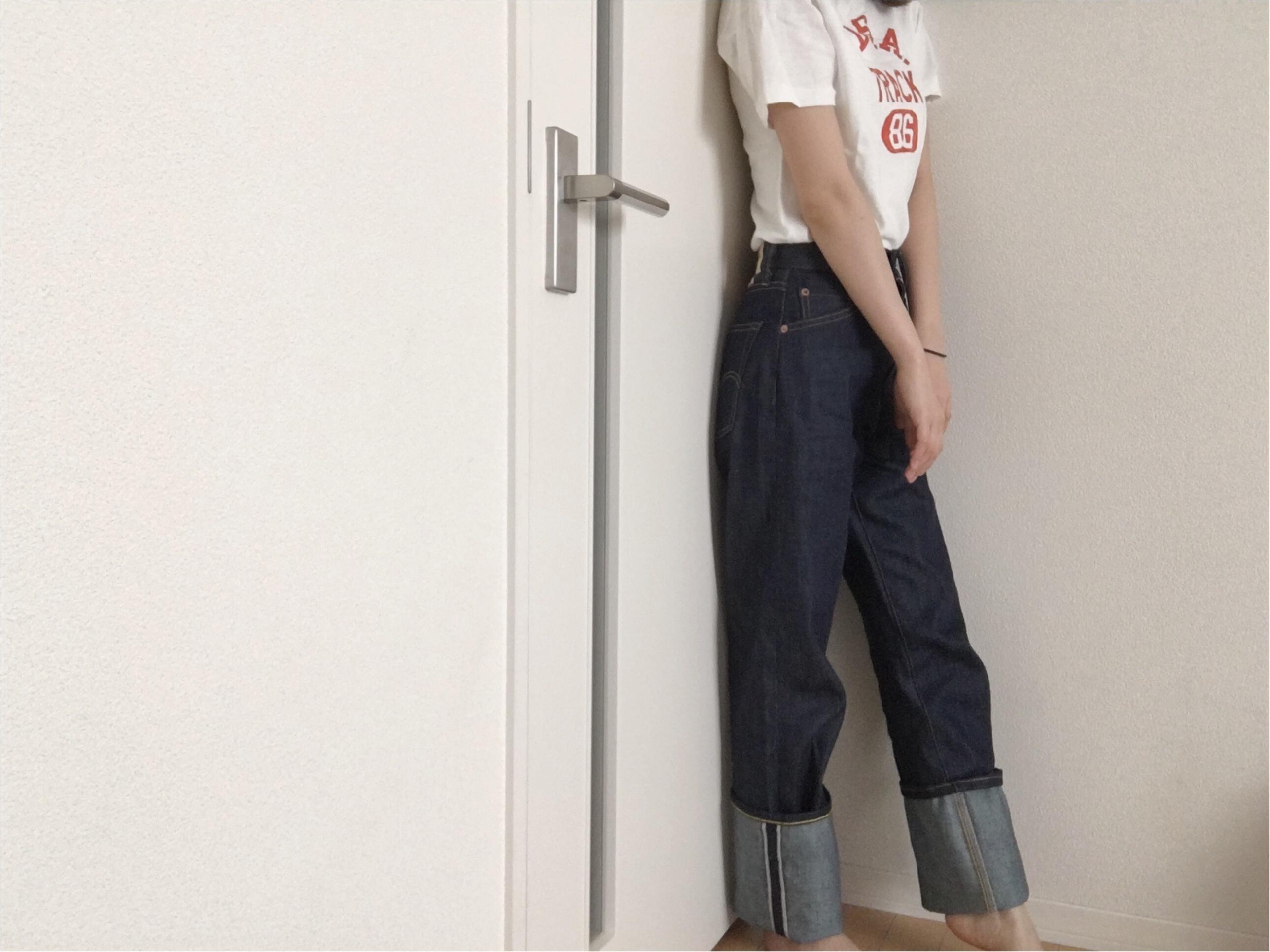 ★《Levis701》ハイウエストデニムをget☆履き心地と可愛いポイントはここだっ!!_5