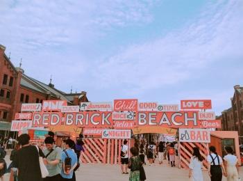 横浜赤レンガ倉庫に「プライベートビーチ」が出現!?まるでハワイ♡《RED BRICK BEACH》