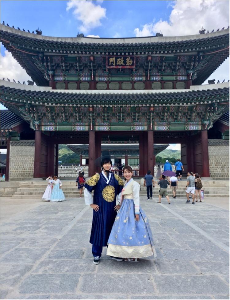 韓国に行ったら絶対おすすめ♡チマチョゴリでの景福宮ツアー♡_5