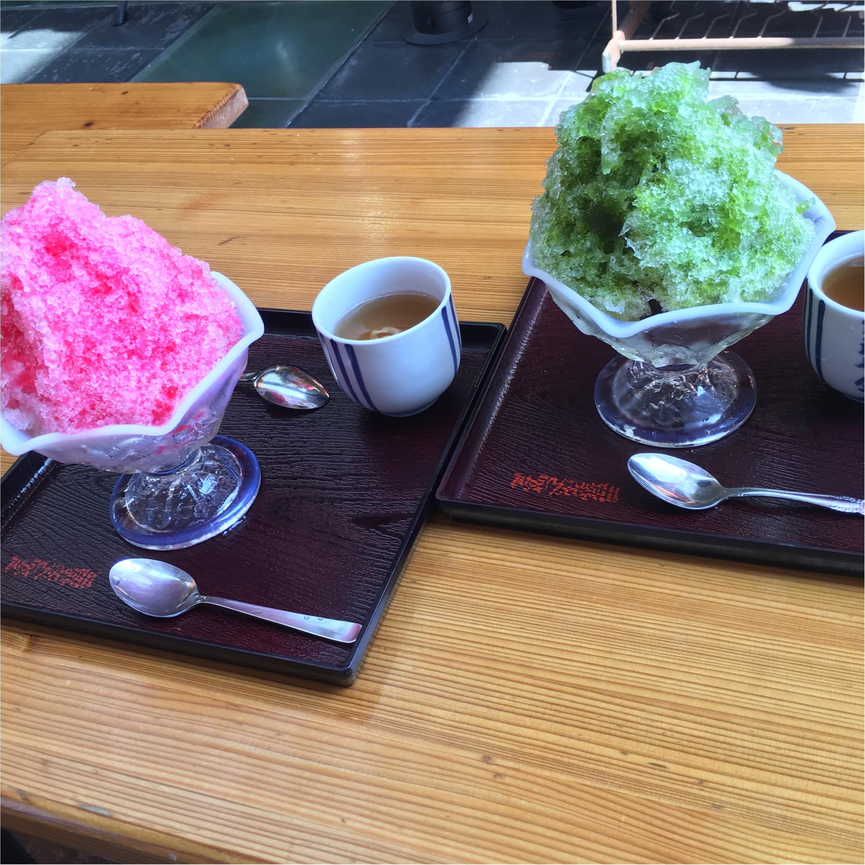 博多の夏の味♡川端ぜんざい広場のカキ氷がひんやりおいしい!♡_2