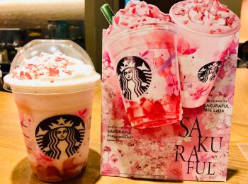 【スタバ】ピンクづくし❤︎SAKURAシーズン到来!今年はなんと桜&苺ゼリー入り♡