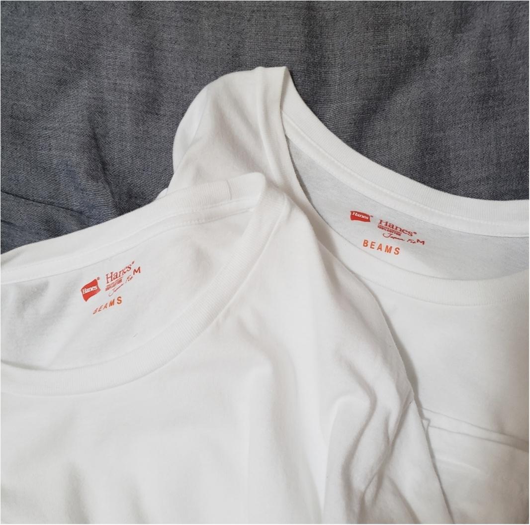 着心地抜群《Hanes》2枚で税込2700円!コスパ◎の白T着てみたよ♡_2