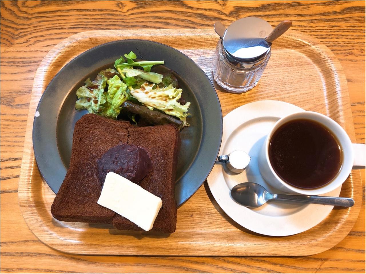 【銀座カフェ】小倉あんバタートースト+コーヒーが550円で食べられるお得モーニング!!_3
