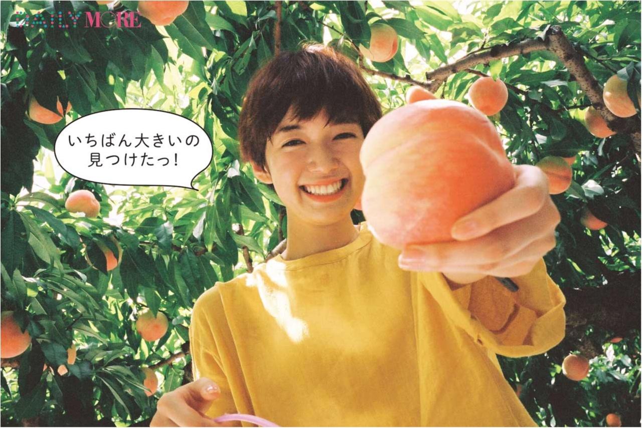 大好きなフルーツが鈴なり♪ 佐藤栞里が「桃狩り」にGO!【栞里のちょっと行ってみ!?】_1