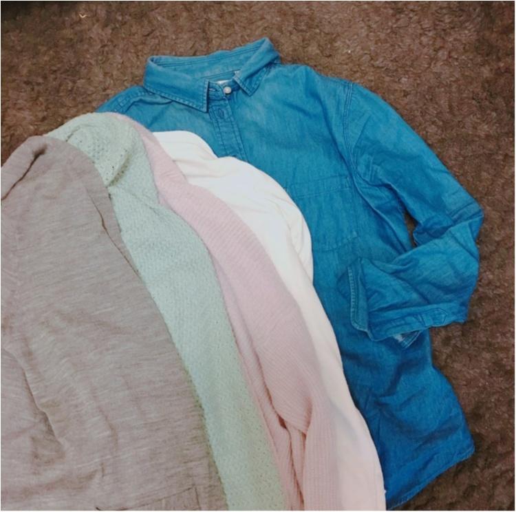 《春直前!これ一枚あればすぐに春顔♡》セーターからデニムシャツに変えてみませんか?_4