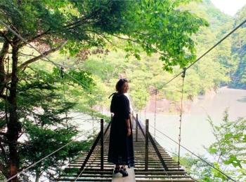 絶景! 寸又峡の「夢の吊橋」へ♪ 沼津港では海鮮丼を満喫! 【 #TOKYOPANDA のご当地モア・静岡県編】