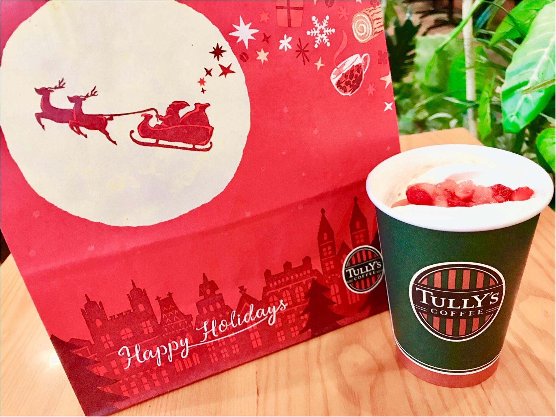 【タリーズ】本日発売!まるで苺のショートケーキ❤︎《ストロベリーミルクティー》でクリスマス気分♡_6