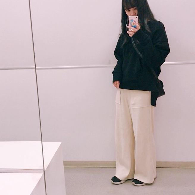 リピ買い確定♡GUの【リブワイドパンツ】◯◯すると、より可愛くて履きやすくなる❤︎_2