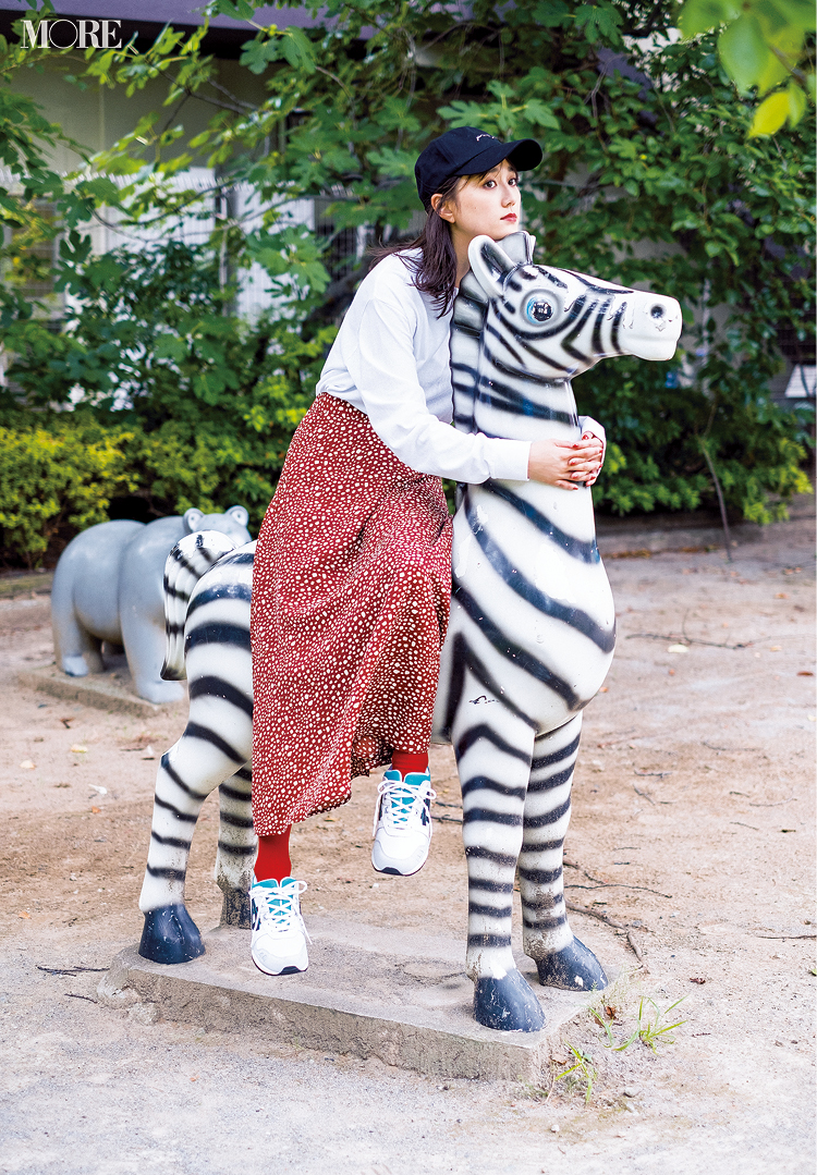 「コーデかぶっちゃった!……シマウマと(笑)」鈴木友菜主演・着回し連載『柄アイテムが必要だ。』16日目_1