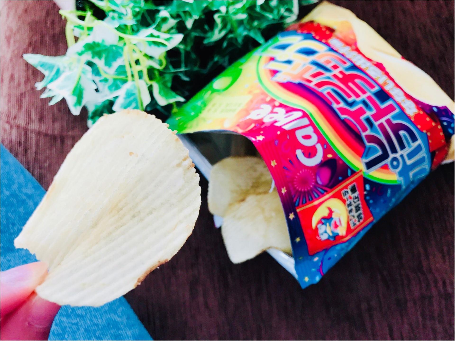【ドンキ限定】ポテチがレインボー!?ついつい手が止まらない!《レインボーポテトチップス》がやみつきの味❤︎見つけたら即買い必至ですよ〜♡♡_3
