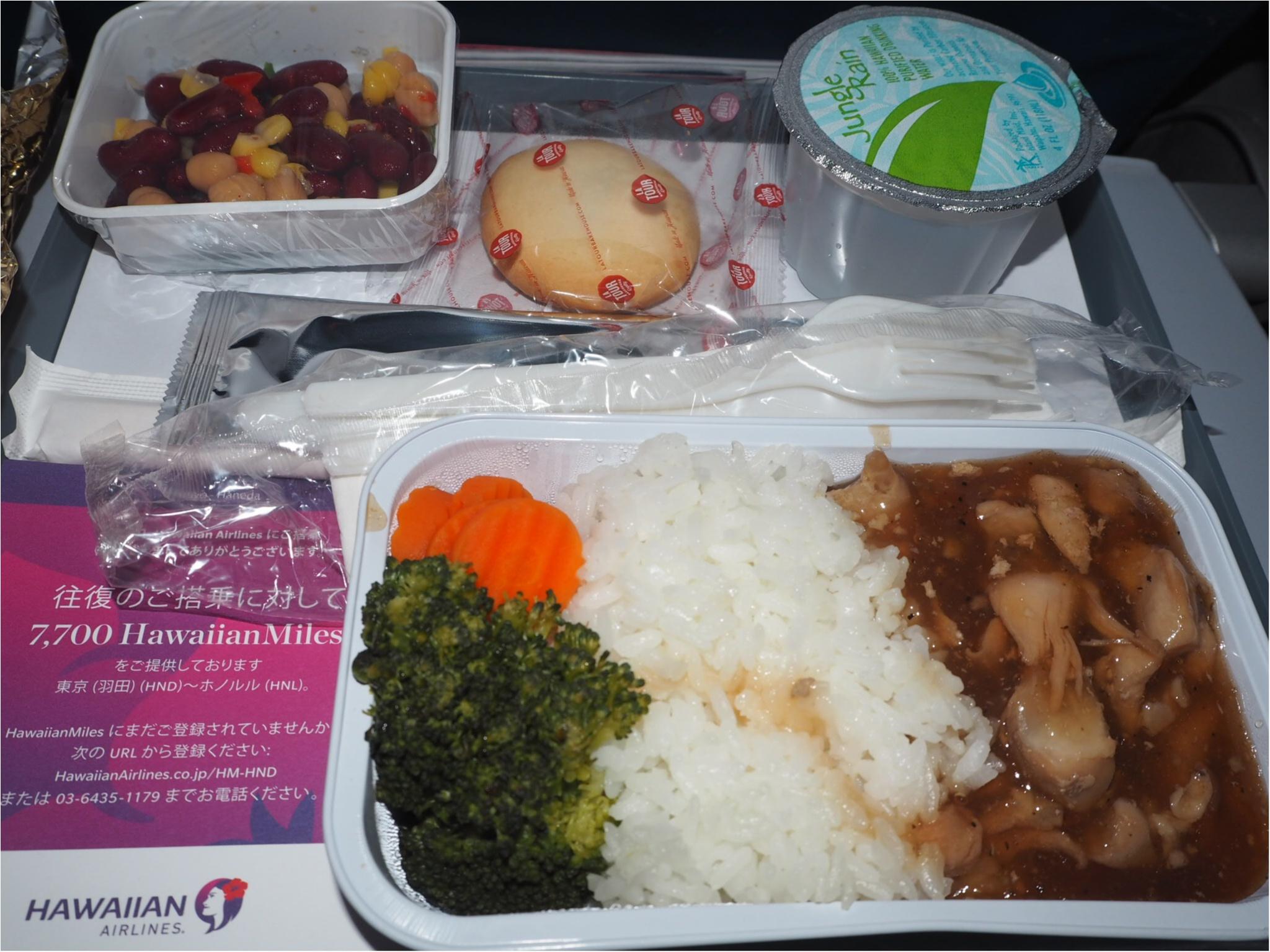 【ハワイ✈︎羽田】帰りの飛行機、ハワイアン航空の機内食はいつ出るの?お答えします‼︎_2