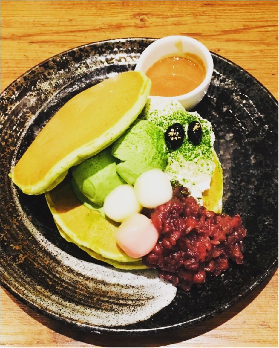 【ご当地モア】<抹茶マニア>大阪の有名なパンケーキ屋さん≪mog≫が、京都のカフェ≪通圓≫とコラボ!塩生クリームの抹茶パンケーキがめちゃ美味しい♡_3