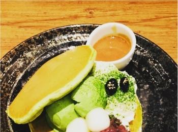 【ご当地モア】<抹茶マニア>大阪の有名なパンケーキ屋さん≪mog≫が、京都のカフェ≪通圓≫とコラボ!塩生クリームの抹茶パンケーキがめちゃ美味しい♡