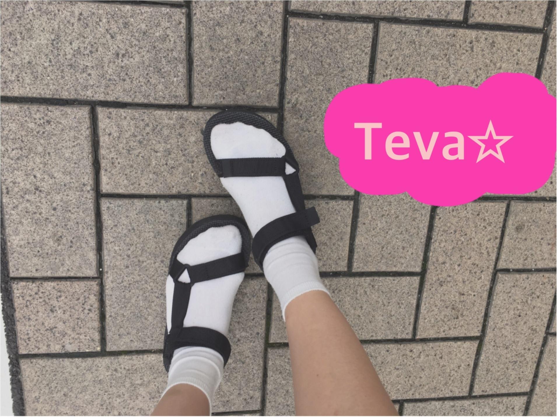 ★こんなのもあり?!《Teva ×靴下 コーディネート》_1